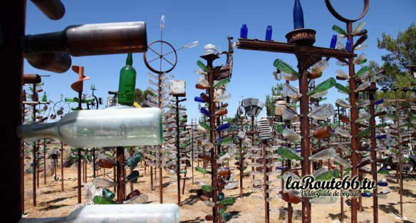 Le Bottle Tree Ranch sur la Route 66.